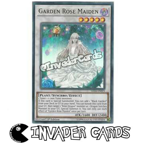 Yugioh Garden Rose Maiden LED4-EN023 Ultra Rare 1st Edition Trading Card