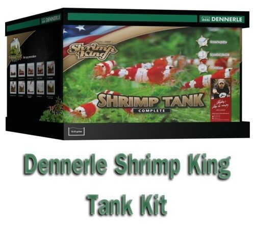 Dennerle 10 G 35L Shrimp King Complete Aquarium Tank Kit Filter + LED 5.0 Light