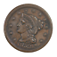thumbnail 1 - 1853 Braided Hair Large Cent About Uncirculated Condition