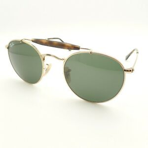 6cf1dc8a06c Ray Ban 3747 001 Gold Green 50mm Sunglasses New Authentic ...