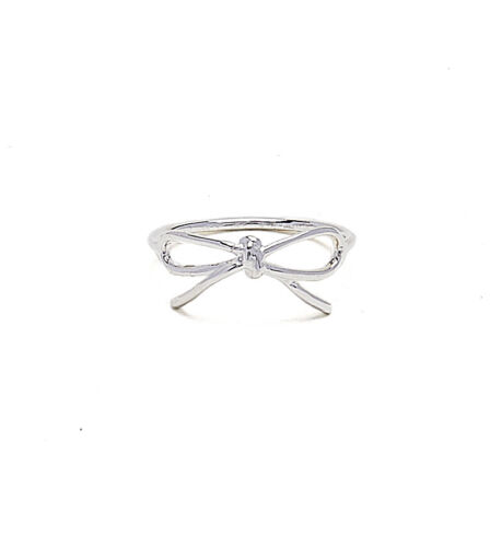Kristin Perry Dainty 925 Sterling Silver Bow Ring