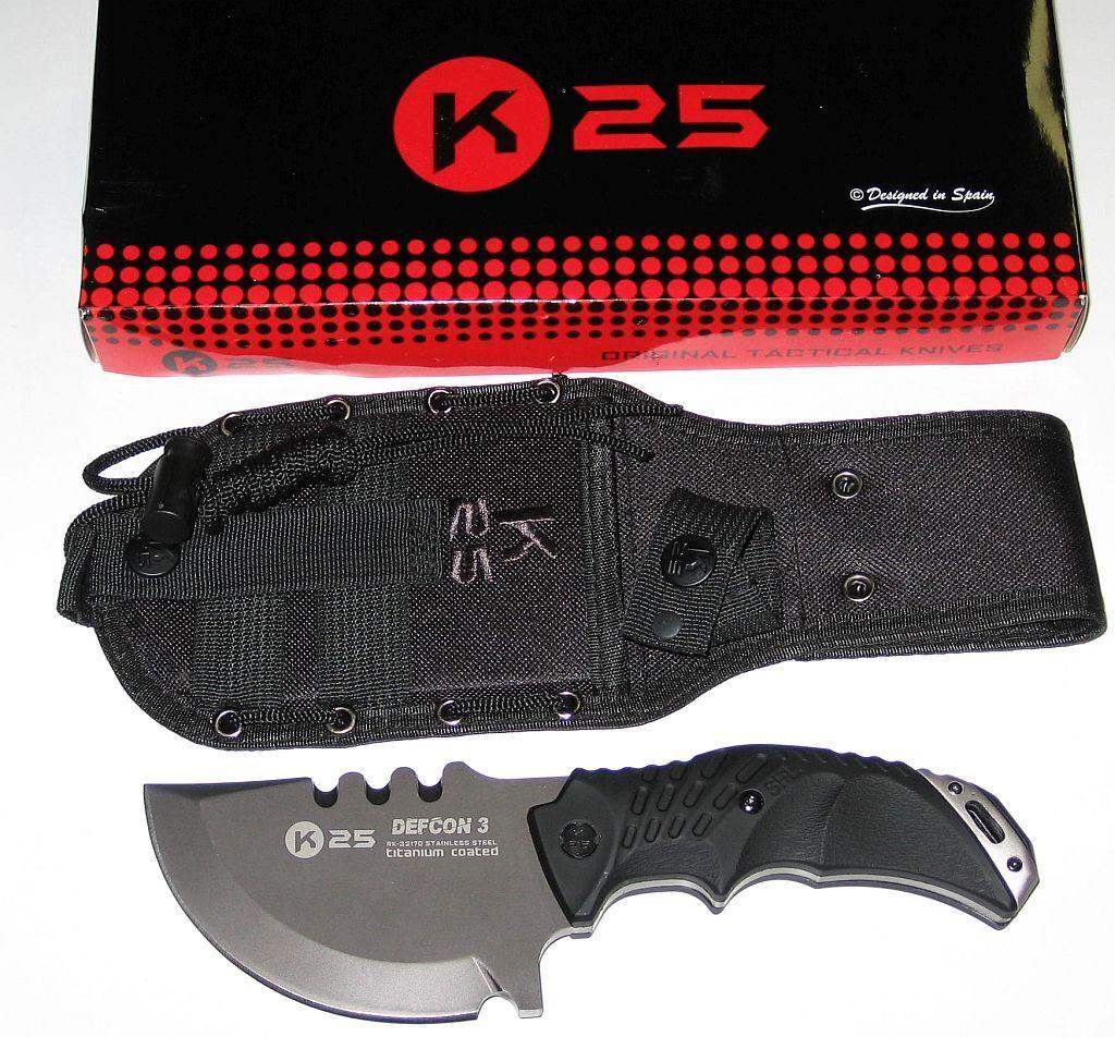 K25 Tactical Knife DEFCON 3 el  pequeño Allround mango nuevo en el embalaje original  ventas en linea