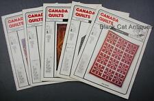Lot of Five Canada Quilts Magazines 1983 Issues 47 To 51 Vol. XII No 1 2 3 4/4