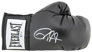 Roy Jones Jr。 正品簽名黑色 Everlast 拳擊手套 BAS 見證了