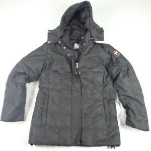 Bogner Ski Jacket Size M Black Mens Fire + Ice Winter Coat Hood Duck ... c4431f407