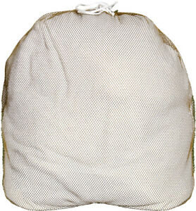 Coyote-Brown-Lightweight-Nylon-Mesh-Utility-Laundry-Drawstring-Bag