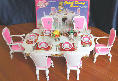 New Fancy Life Doll House Furniture Grand Dining Room Playset 2312 Ebay