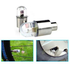 B64-2x-Auto-Reifen-Schock-Sensor-Licht-Reifen-Ventil-Staubkappe-Motorrad-Fahrrad