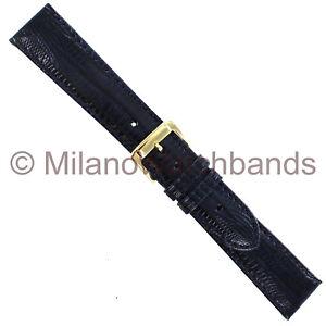 18mm-Speidel-Blue-Genuine-Teju-Lizard-Padded-Stitched-Mens-Watch-Band-999-530