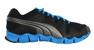 Puma-Shintai-Runner-Mens-Trainers-Black-Blue-Mesh-Sports-186446-07-D107