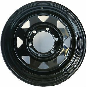 To-Suit-Mazda-BT50-Ford-Ranger-After-Market-16x8-Black-Sunraysia-Style-Steel-Rim