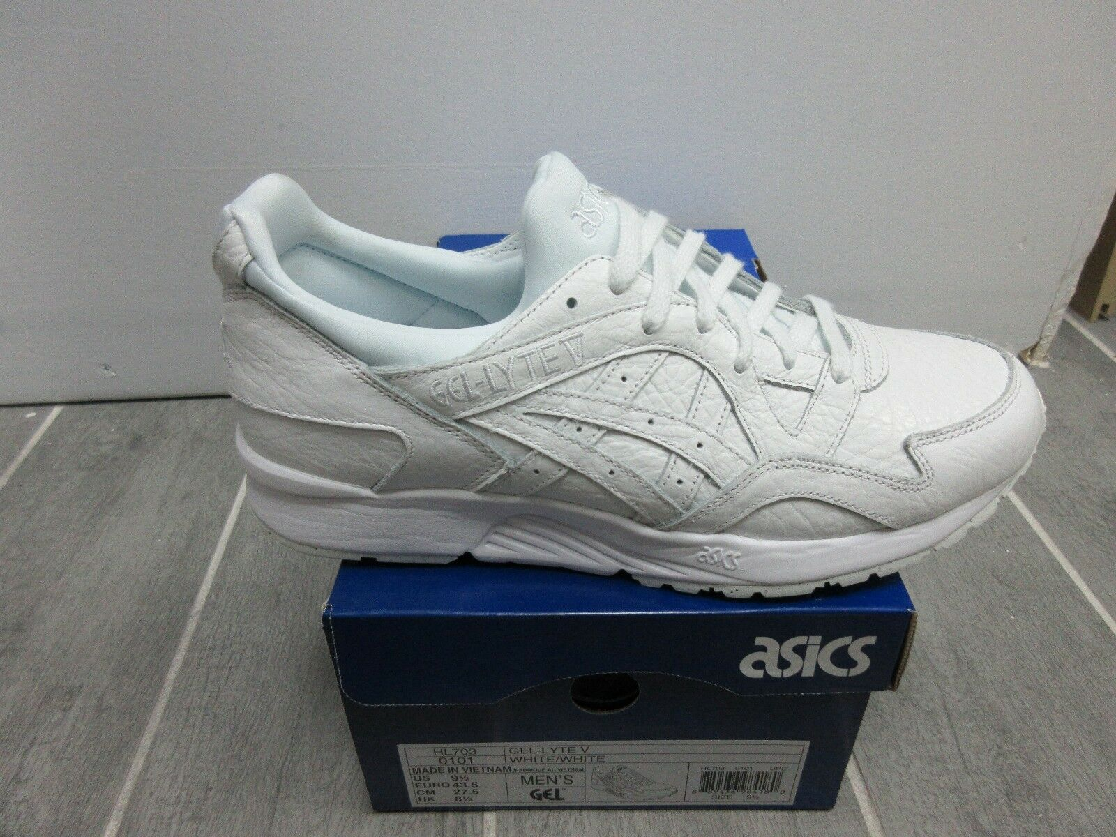 ASICS MEN SHOES GEL-LYTE V WHITE/WHITE HL703 LIFESTYLE ORG.