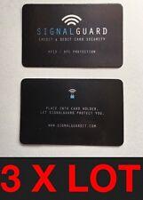3 Protector de señal en la manga de venta por menor X me RFID sin Contacto Protector de tarjeta de crédito