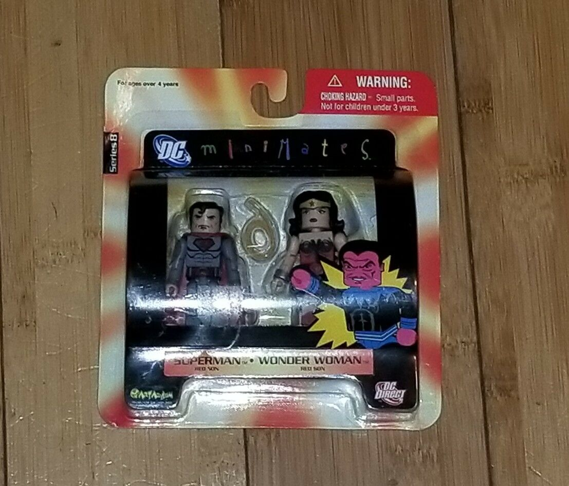 DC Minimates Superman and Wonder Woman 2008 DC Direct Series 8 1E RyRo Toys