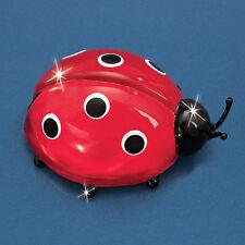 Glass Baron ~ Mini Lady Bug  Ladybug ~ 14 kt gold ~ Glass Figurine ~ New in Box