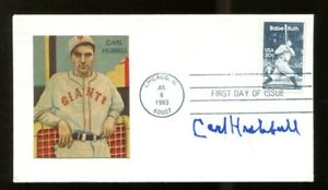 Carl-Hubbell-Signed-FDC-First-Day-Cover-Autographed-NY-Giants-56187