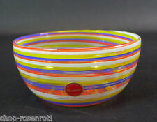 Murano Glasschale 50/60er Jahre -  Ätzstempel & Etikett Zechini  Murano