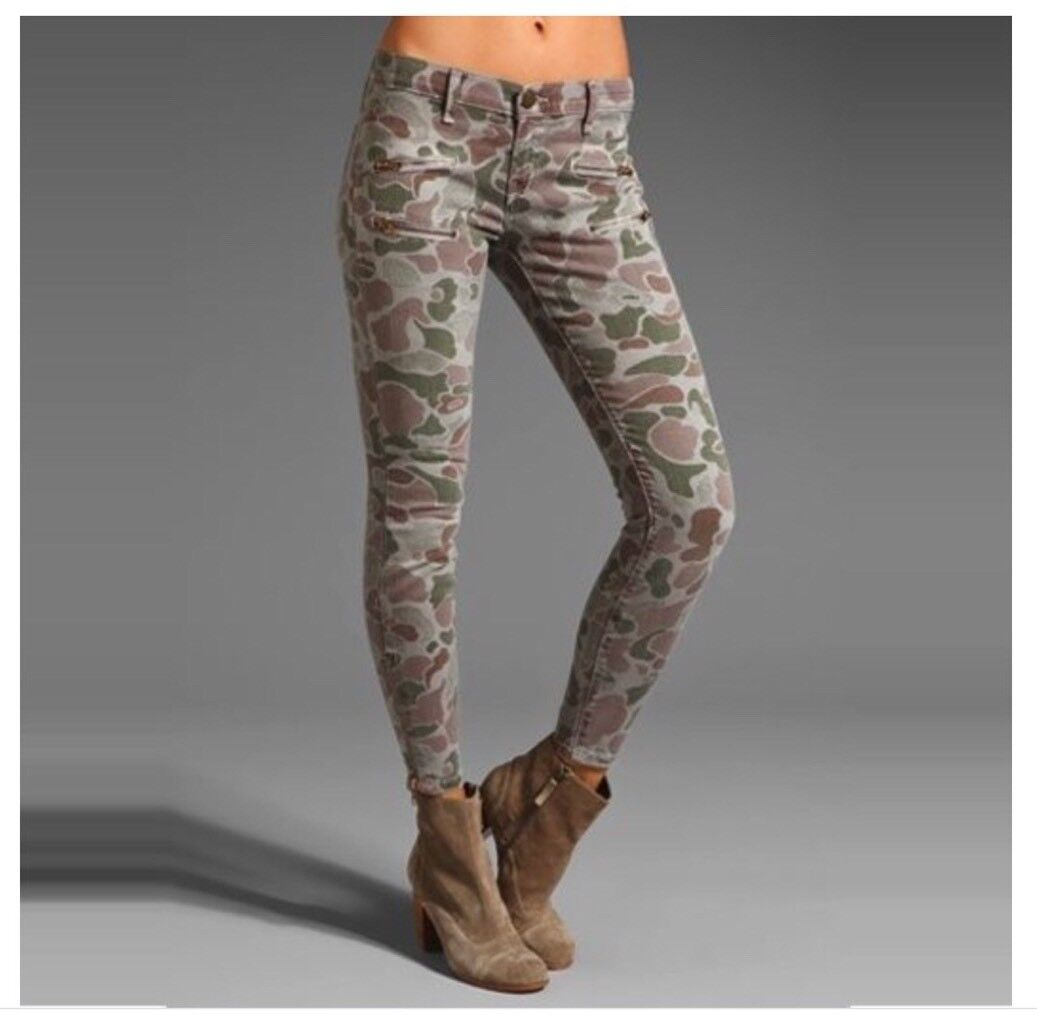 Current Elliott Size 25 Skinny Camouflage Ankle Zipper Pants In Multicolor