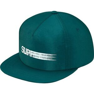 aa4dea19f83 SUPREME Motion Logo Iridescent 5-Panel Teal box logo camp cap tnf ...