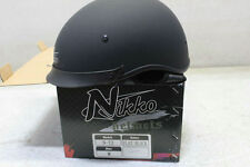 1 New Nikko N-72  Half  Helmet Medium Flat Black  DOT  Approved N72