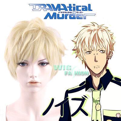"9"" Dramatical Murder Noiz Short Golden Blonde Cosplay Hair Wig"