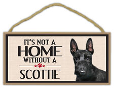 Wood Sign: It's Not A Home Without A SCOTTIE (Scottish Terrier) | Dogs, Gifts