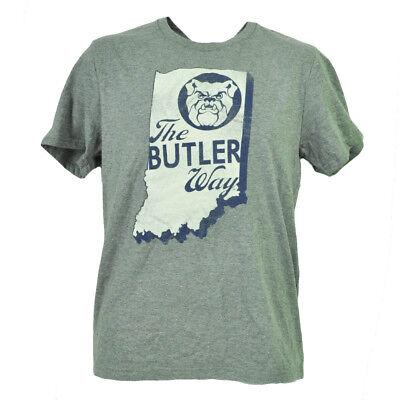 Ncaa Butler Bulldogs Staat Landkarte Logo Grau T-shirt Herren Kurzarm Rundhals Nachfrage üBer Dem Angebot Fanartikel Sport