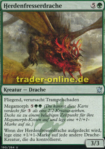 2x Herdenfresserdrache Dragons of Tarkir Magic Herdchaser Dragon
