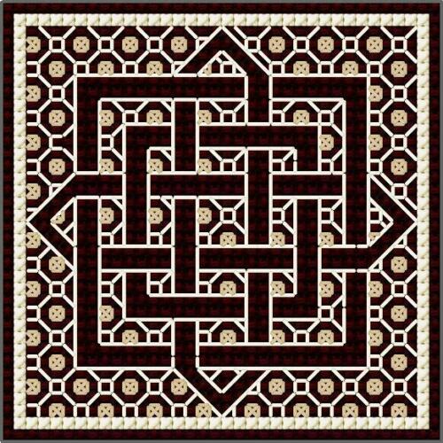 Counted Cross Stitch /& Blackwork Kit Celtic Knots 1 DoodleCraft Minis
