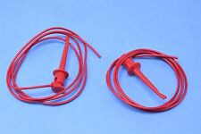 """pomona 3780-24-0 3780-24-2 mini grabber patch cord 24/"""" one red and one black"""
