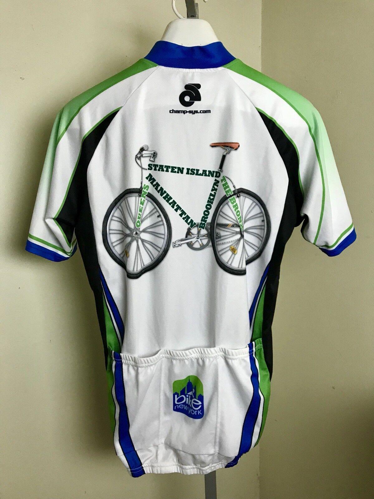 2011 Bike New York Cycling Cycling Cycling Jersey Shirt Men's 1 4 Zip XL Champion Systems 5 Boro 9ea08a