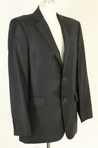 ERMENEGILDO-ZEGNA-Black-Pinstripe-Blazer-Tailored-Jacket-Size-UK-40-034-Chest
