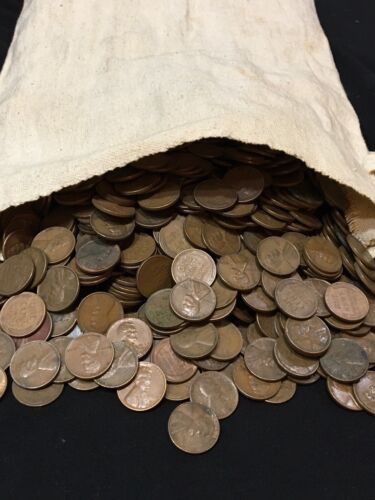 Lot of 100-Lincoln Wheat Pennies Teens to 1958