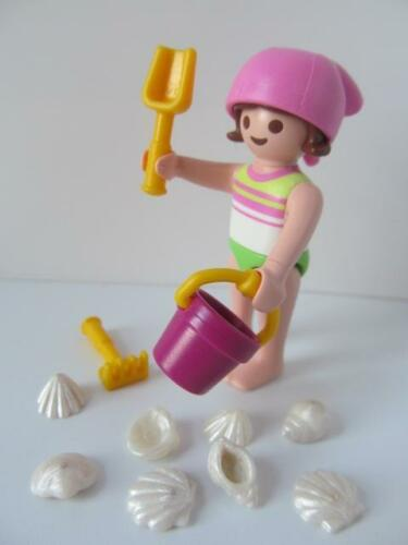 beach toys /& sea shells NEW Dollshouse//Holiday figure Playmobil little girl