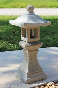 Pagoda Oriental Concrete Lantern Japanese Garden Yard Cement Art