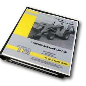 Service Manual for 310A John Deere Tractor Loader Backhoe Technical Shop Repair