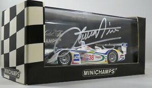 Audi R8 # 38 Signé Emanuele Pirro Champion de l'équipe 2nd Sebring 2003 Minichamps 1:43