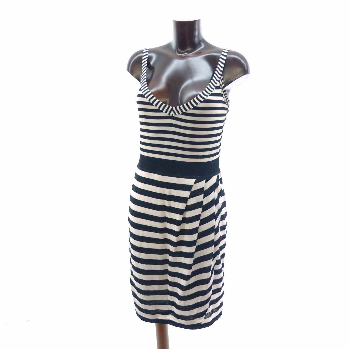 Leinen Sommerkleid schwarz weiß Streifen N3 N3 N3 MARC CAIN 38 gestreift Kleid  NP 69694f