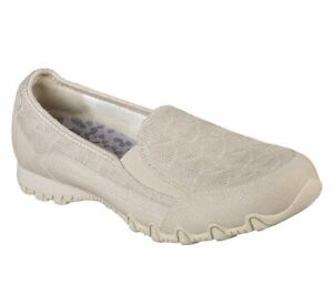 Skechers-Relaxed-Fit-Bikers-Geminids-Shoes-Womens-Natural-Slip-On-Loafers-49474