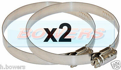 2x HOSE CLIPS FOR 75MM & 80MM EBERSPACHER/WEBASTO HEATER WARM AIR DUCTING