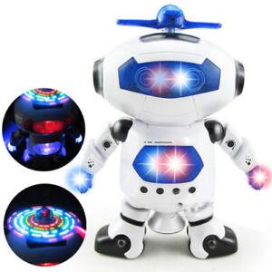 robot musical électronique Marche Danse robot Astronaute lampe Musique jouet