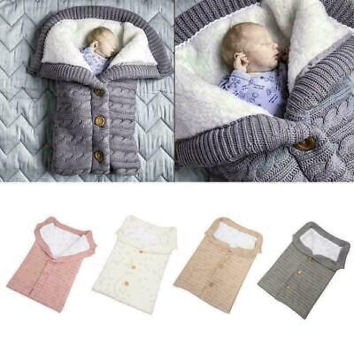 Deylaying Baby Sleeping Bag Newborns Knitted Wrap Blanket Soft Warm Swaddling Sleep Sack Stroller Wrap Blanket for 0-12 Months