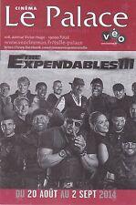 PROGRAMME DE 2 SEMAINES DU CINEMA LE PALACE - THE EXPENDABLES 3