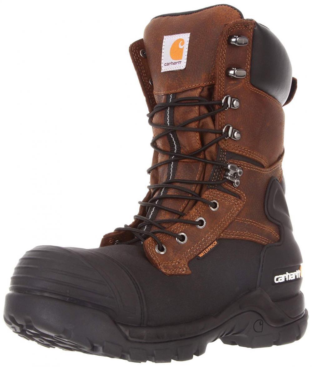 Carhartt Men's 10  Waterproof Insulated PAC Composite Toe avvio Leather Comfort