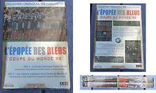 Coffret 2 dvd collector, l'épopée des Bleus lors de la coupe du Monde de 1998...