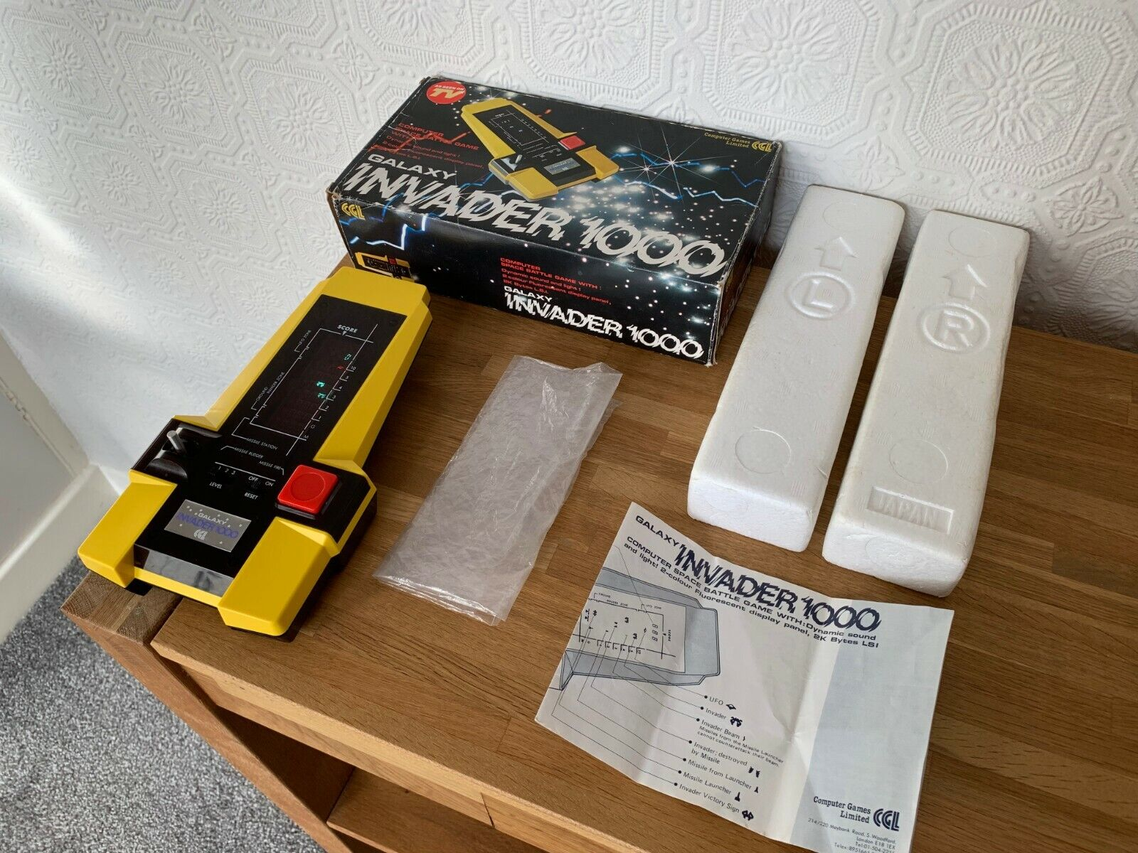 Superb CGL Galaxy Invader 1000 Vintage 1980 Handheld Electronic Game - Near Mint