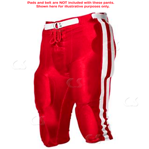 Youth Dazzle Football Pants Scarlet//White//Scarlet YXL Alleson No Pads  /_994-022