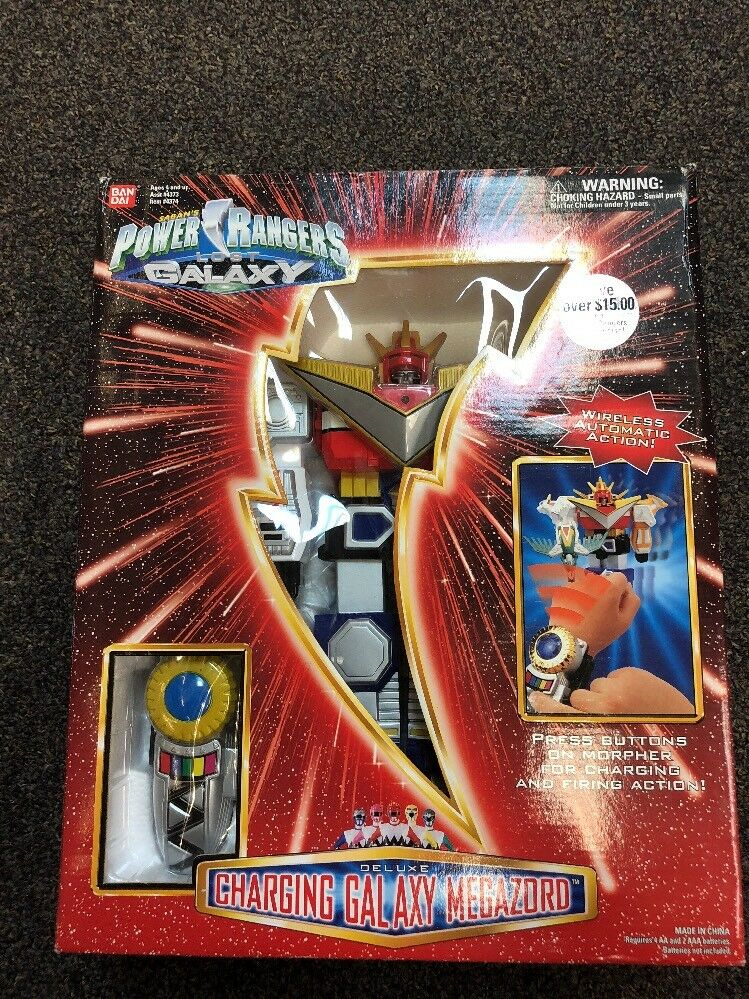 POWER RANGERS LOST GALAXY DELUXE CHARGING GALAXY MEGAZORD MISB