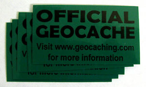 20-x-Cache-stickers-for-Geocaching-black-print-on-green
