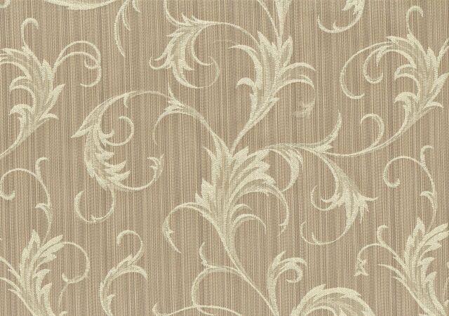 Designer Fabric  Lady Pebble  Beige Scroll Drapery Upholstery
